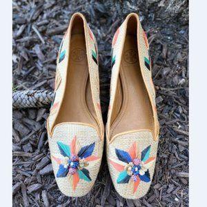 TORY BURCH Straw Natural Woven Ballet Flat 8